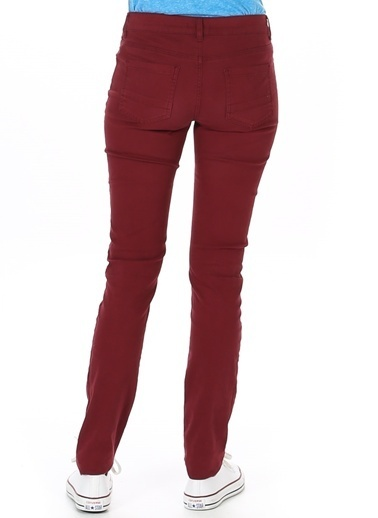 T-Box Slim Fit Pantolon Bordo